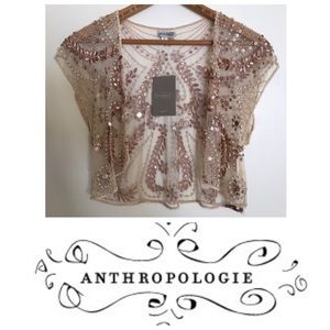 NWT New With Tags Anthropologie Beaded Shawl